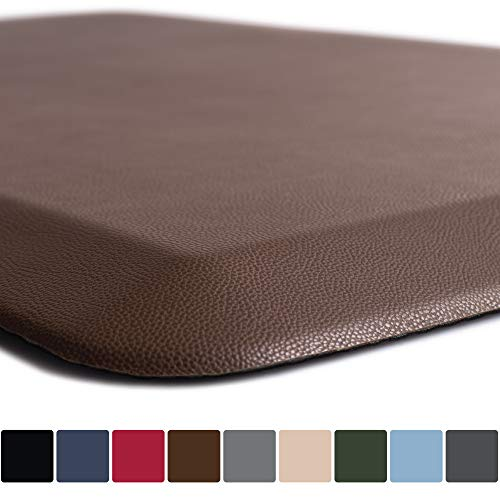 GORILLA GRIP Original Premium Anti-Fatigue Comfort Mat, Phthalate Free, Ships Flat, Ergonomically Engineered, Extra Support and Thick, Kitchen and Office Standing Desk, 39x20, Brown