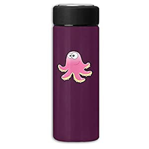 Pink Octopus Frosting Business Thermos Stainless Steel Cup,Convience Bottle