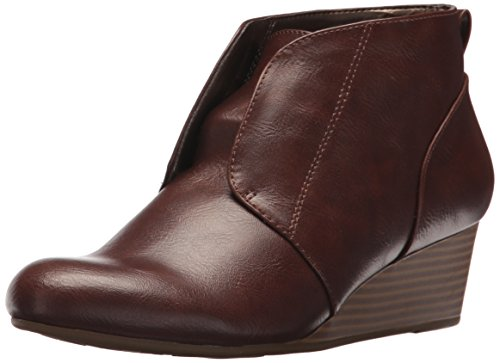 LifeStride WoMen Lonnie Ankle Boot Dark Tan