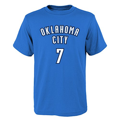 'Carmelo Anthony Oklahoma City Thunder #7 NBA Youth Boys Name & Number T-Shirt Blue, Youth Medium - Carmelo Style Anthony