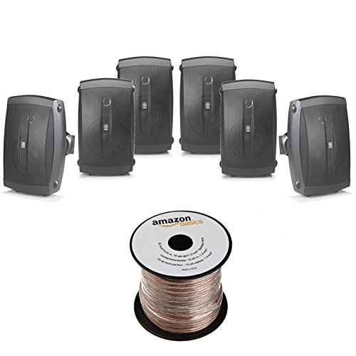 Yamaha NS AW150BL 2 Way Outdoor Speakers