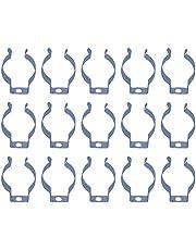 Cabilock 100 Piezas Led T8 U Clips Soporte de Soporte Tubo Fluorescente Soporte de Lámpara de Acero Inoxidable Soporte de Lámpara Abrazaderas de Tubo para Bombillas Led de 8 Pies