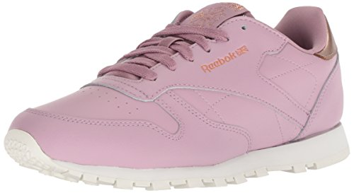 Reebok Unisex Classic Leather Sneaker, rm-Infused Lilac/Chalk, 2.5 M US Little Kid ()
