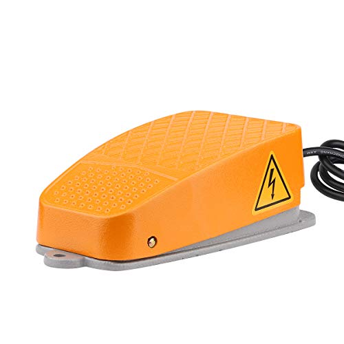 Foot Switch, Yeeco 250V 15A Heavy Duty Foot Pedal Switch Electric Pedal Momentary Industrial Aluminum Foot Pedal