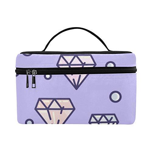 Toiletry Bags Roomy Cosmetic Bags Brilliant Extravagant Diamond Big Handbags School Makeup Organizer Outdoor For Girls Case ()