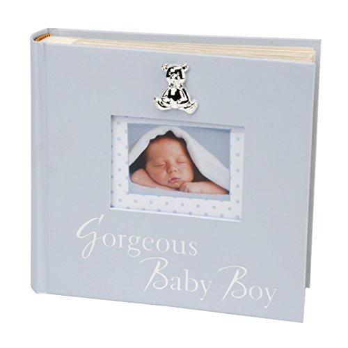 Oaktree Gifts Gorgeous Baby Boy Photo Album in Blue 6 x 4