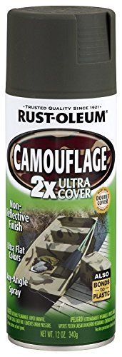Rust-Oleum 279175 Specialty Camouflage Ultra Cover 2X Spray Paint, 12-Ounce, Deep Forest Green - 6 Pack