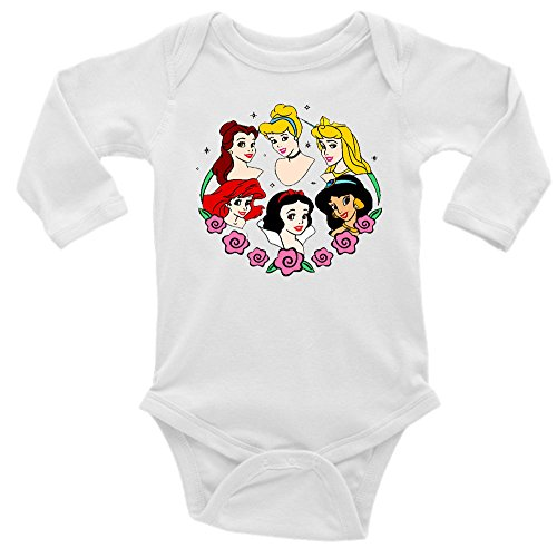 Disney Princesses Long Sleeve Unisex Onesie (3-6)