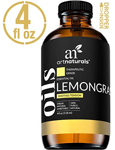 ArtNaturals Therapeutic Grade Essential Oils - 4 oz - Lemongrass oil (Land And Water Forms In The Philippines)