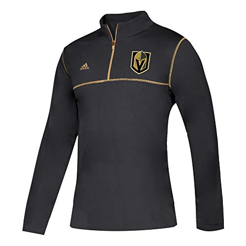 - adidas NHL 2018 Mens MT Long Sleeve 1/4 Zip Shirt (Large, Vegas Golden Knights)