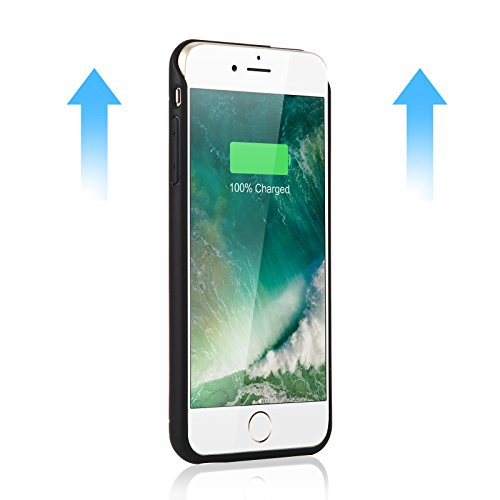iPhone 7 Plus Battery event YISHDA 4200mAh slender Rechargeable Extended Battery event for iPhone 7 Plus 55inch iPhone 7 Plus External Battery Charging event Backup Battery vitality Charging event for iPhone 7 Plus 55 inch went up Gold 18 Month guaranty Battery Charger Cases