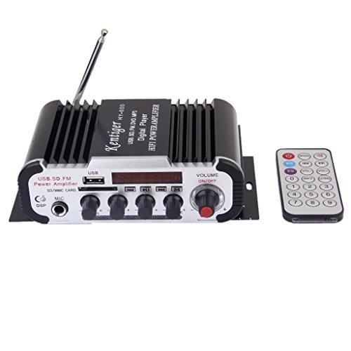Amplificador De Microfono Dc12v Para Usb Sd / Formato Mp3 / Fm Lhy600 Negro