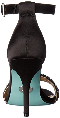 Blu By Betsey Johnson Donna Abito Sb-gina Sandalo Nero Satinato