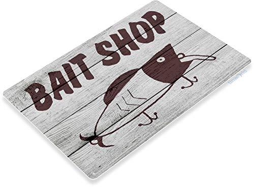 Tinworld TIN Sign B803 Bait Shop Fishing Bait Retro Box Tackle Fish Rustic Metal Decor ()