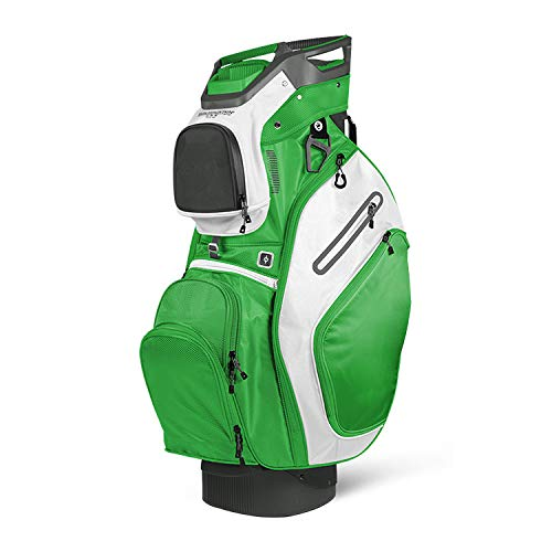 Sun Mountain 2018 C-130 (No Logo) Cart Bag - Gunmetal/Lime/White - Closeout
