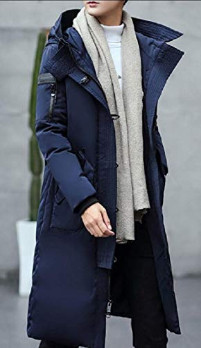 Outdoor Down Coat Jacket Hooded Thicken Jacket Blue Men Gocgt TqHSn4H