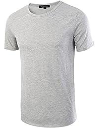 HETHCODE Men's Classic Comfort Soft Fitted Short Sleeve Crew Neck T-Shirt Tee