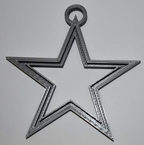 YNGLLC Dallas Cowboys Star NFL Football Logo Hanging Ornament Holiday Christmas Decor 3D Printed Made in USA PR2050