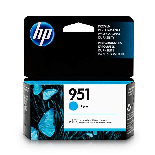 (HP CN050AN#140  951 Ink Cartridge, Cyan (CN050AN) for  Officejet Pro 251, 276, 8100, 8600, 8610, 8620, 8625,)