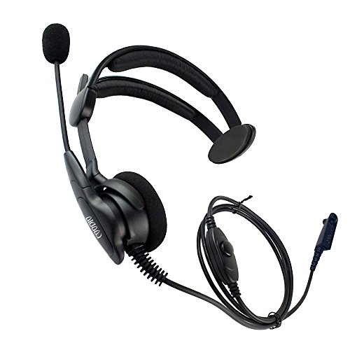 (Coodio Over-the-Head Earpiece Headset [Swivel Boom Microphone] [Noise Cancelling] For Motorola HT750, HT1250, HT1550, MTX850, MTX950, MTX960, MTX8250, PRO5150 2 Way Radio)