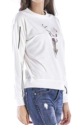 Jumojufol Maglione Breve Le Sweatershirts Di White Sono Natale Donne Brutte pqrxYpg
