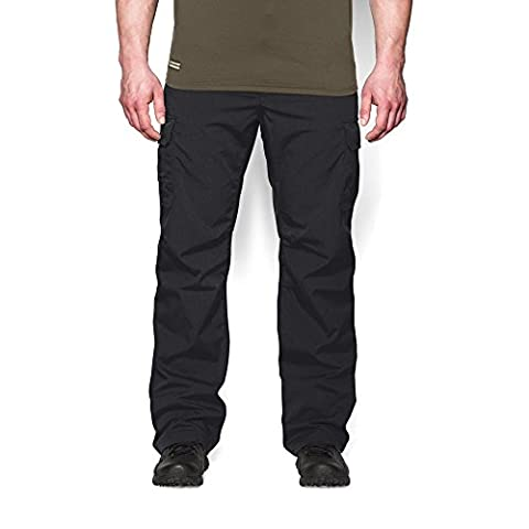 Under Armour Men's Storm Tactical Patrol Pants, Black/Black, 38/30