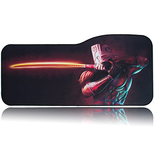 BRILA Extended Mouse pad - Curve Design Gaming Mouse pad - Stitched Edges & Skid Proof Rubber Base - 29
