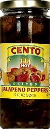 Cento Pepper Jalapeno Sliced 12 Oz (Pack of 6)