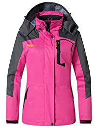 Wantdo Women's Hooded Outdoor Lightweight Waterproof Rain Jacket Windproof Raincoat
