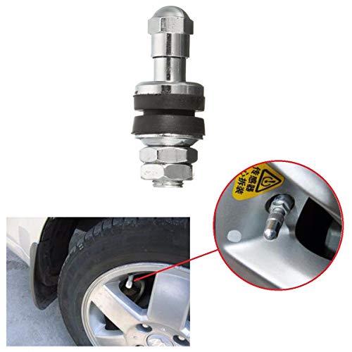 - Transport-Accessories - Universal Tire Valve Stem 502 Chrome Metal Bolt In High Pressure Flush Mount Rear for 0.453 inch