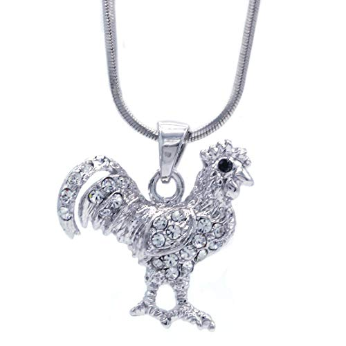 Soulbreezecollection Lover Chicken Rooster Necklace Pendant Fashion Jewelry for Women Gift