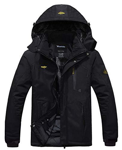 Wantdo Men's Mountain Waterproof Ski Jacket Windproof Rain Jacket Winter Warm Snow Coat 1