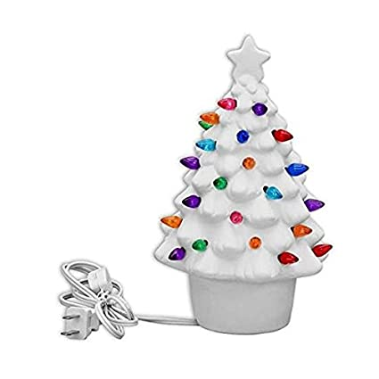 small traditional lighted christmas tree paint your own ceramic keepsake - Paint Your Own Ceramic Christmas Decorations