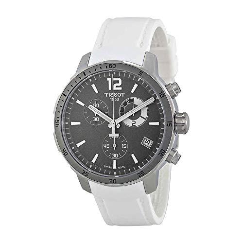 (Tissot Men's T0954491706700 Quickster Analog Display Swiss Quartz White Watch)