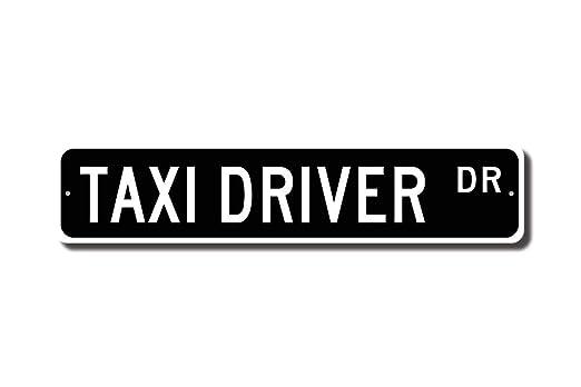 qidushop - Cartel de Taxi con diseño de Taxi, Conductor de Taxi ...