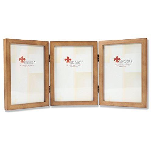 Lawrence 5x7 Triple Wood Frames - Nutmeg
