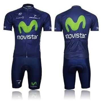 MONTON - movistar ciclismo conjunto de manga corta Jersey Tenaz ...