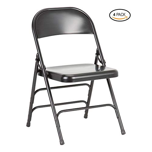 - Norwood Commercial Furniture NOR-FEI592-BK-SO 6700 Series Triple-Brace Steel Folding Chair, Black (Pack of 4)