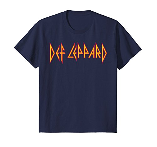 Kids Def Leppard - Sugar T-Shirt 4 Navy (Sugar T-shirt Boys)