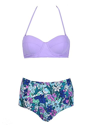 Choies Womens Bikini Floral Bottom