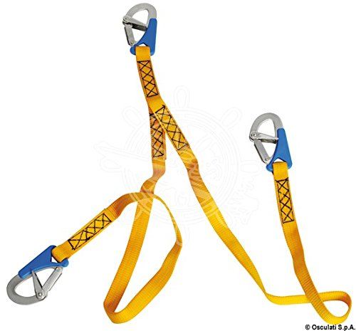 Osculati EURO Lightline Safety Line Anti-caughting opening 2m 3x hooks