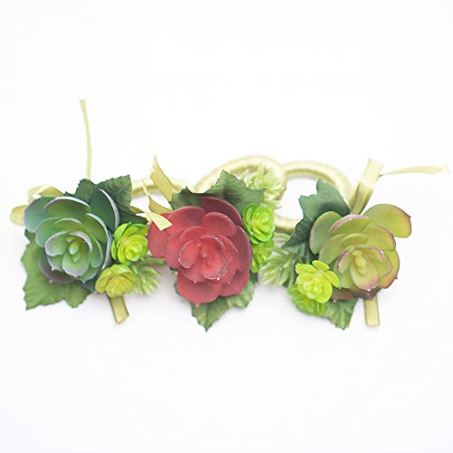 (Richland Delilah Succulent Napkin Rings Set of 6 )