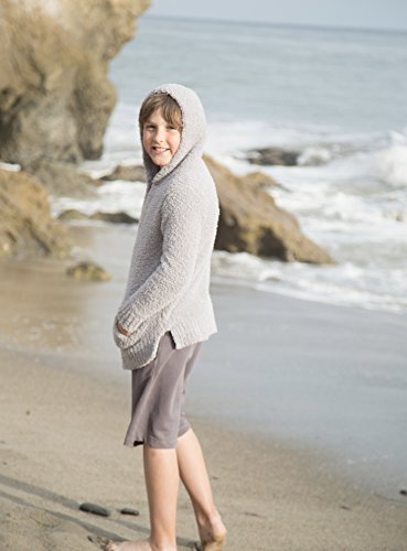 Price comparison product image Barefoot Dreams The Cozychic Youth Baja Hoodie, Color:Dove, Size M, 1O-12
