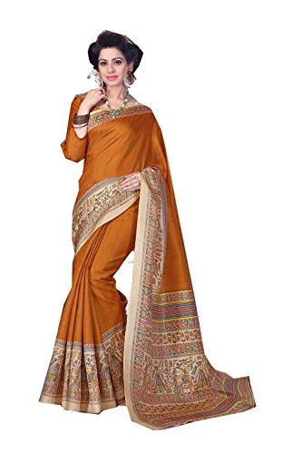 Da Facioun Indian Sarees For Women Wedding Designer Party Wear Traditional Orange Sari by Da Facioun