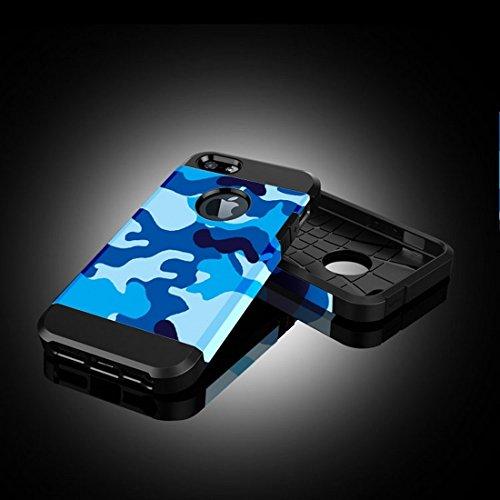 Phone Taschen & Schalen Für iPhone 6 Plus & 6s Plus Lila und Gelb Tarnmuster Tough Armor TPU + PC Kombi Fall ( SKU : S-IP6P-3256C )