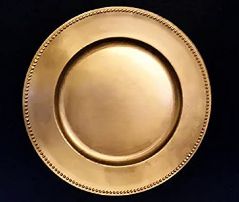 springrose gold charger plates set of 10 buy in bulk the perfect - Christmas Charger Plates