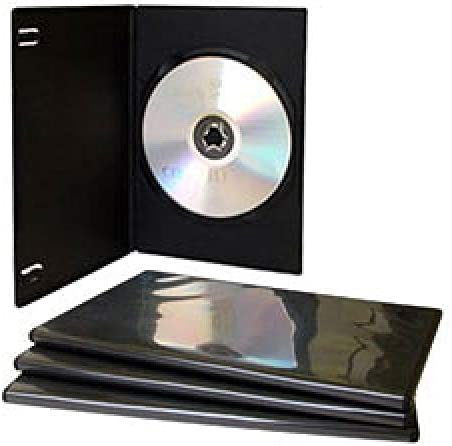 MediaRange DVD Caja vacía 100pcs Soltero Delgado Grueso Negro: Amazon.es: Informática