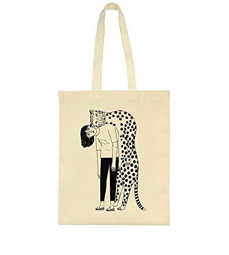 And Girl Artwork Cheetah Tote A Bag 4SwwqAx1vO