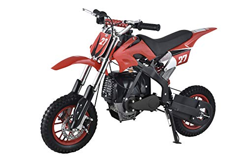 Se7en 40CC 2-Stroke Gas Powered Scooter Mini Dirt Bike,Pit Bike Dirt Off Road Motorcycle (Red)