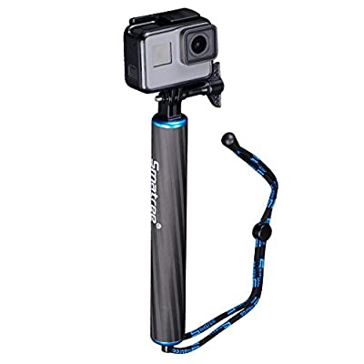 Smatree SmaPole F1 Waterproof Floating Carbon Fiber Hand Grip for GoPro Hero 5/4/3+/3/2/1 (Blue)